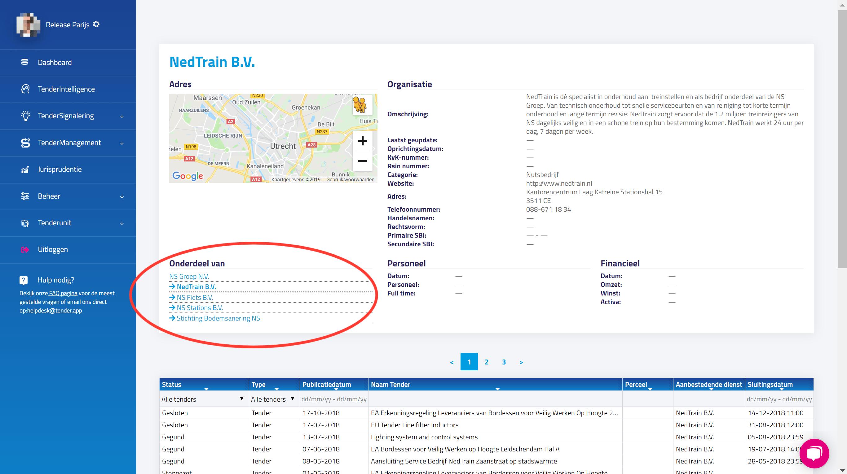 TenderApp informatie aanbestedendediensten, adviseurs en inschrijvers update Parijs