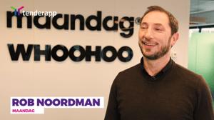 Rob Noordman van Maandag vindt TenderApp 'fantastisch' om aanbestedingen te zoeken.